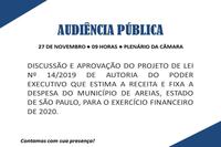 Audiência Pública PL 14/2019