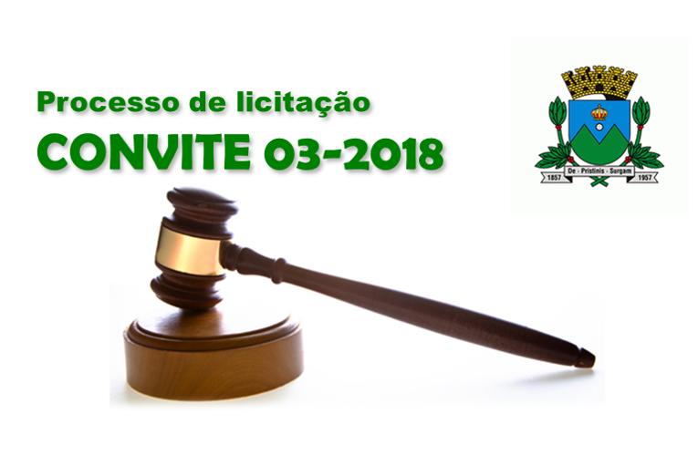 Processo de Licitação - Convite 03/2018